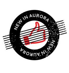 New in aurora rubber stamp vector