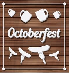 Oktoberfest festival typography background vector