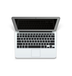realistic laptop 3d object art vector image