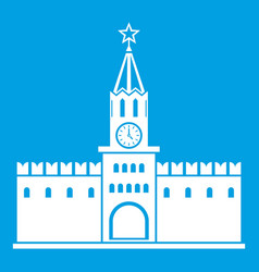 russian kremlin icon white vector image