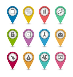 Set business pictogram icons for your design vector image