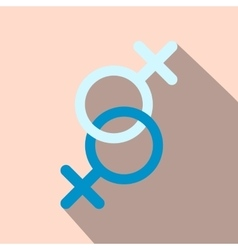 Sign of two women flat icon vector image vector image