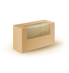 Take away box packaging for sandwich gift vector