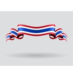 Thai wavy flag vector image
