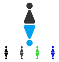toilet symbols flat icon vector image vector image
