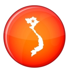 Vietnam map icon flat style vector