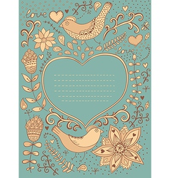 Vintage retro background with floral ornament and vector image vector image