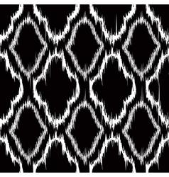 Ikat quatrefoil seamless pattern vector image