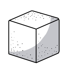 Isolated sugar cube design vector