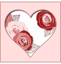 Valentines day abstract paper heart vector image
