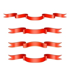 Classic Red Ribbon Set vector image