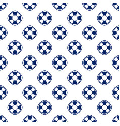 Blue lifebuoy seamless pattern vector