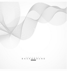 Abstract curved lines on grey background vector