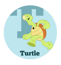 Abc cartoon turtle2 vector