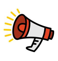 Megaphone loudspeaker bullhorn announcement alert vector
