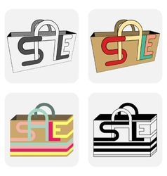 Sale bags for shopping vector image