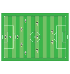 5-3-2 soccer scheme vector image