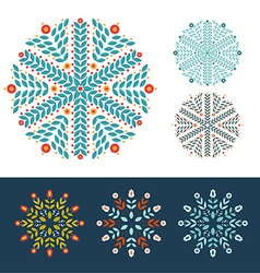 Snowflakes winter set vector