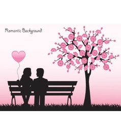 Date under the cherry tree vector