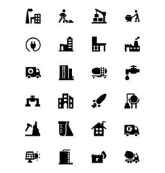 Industrial icons 4 vector