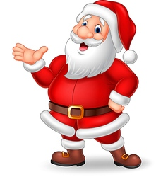 Cartoon santa presenting isolated vector