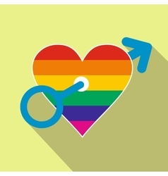 Homosexual love male flat icon vector