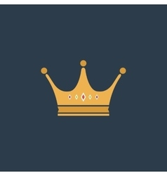 Crown flat icon vector