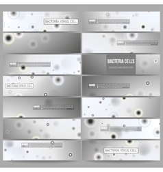Set of modern banners molecular research cells vector