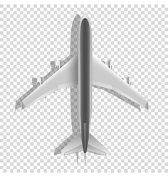 Airplane above icons passenger plane isolated on vector