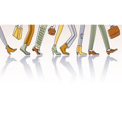 Walking people vector