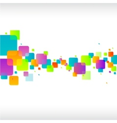 Abstract colorful square background vector image vector image
