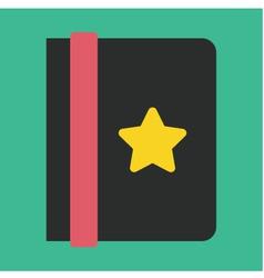 Address Book Icon vector image