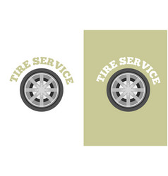 Automobile tire service logo vector