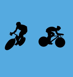 bicyclist collection vector image vector image