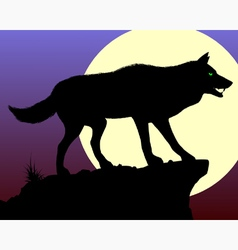 Black Wolf vector image vector image