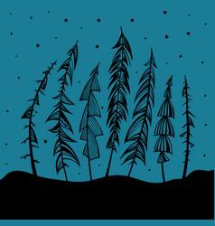 Christmas tree holidays vector