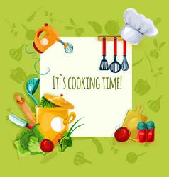 Cooking utensil background vector
