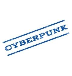 Cyberpunk watermark stamp vector