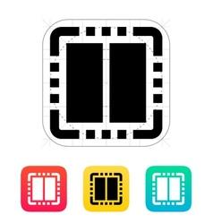 Dual core cpu icon vector