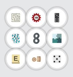 Flat icon games set of bones game multiplayer vector