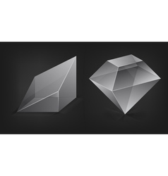 Glass shapes vector