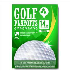 Golf poster design for sport bar promotion vector