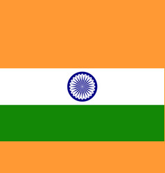 image of india flag vector image vector image