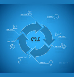 Infographic blueprint cycle template vector