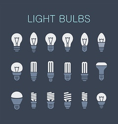 Light bulbs vector image