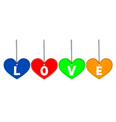 Love tags vector image