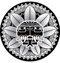 Maya snake deity plumed snake vector