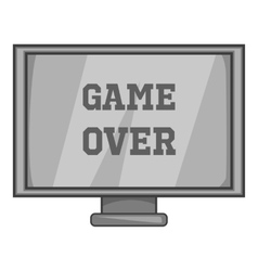 Monitor with word game over icon vector
