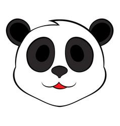 panda bear head icon cartoon vector image