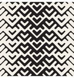 Seamless Black And White Chevron Geometric vector image vector image